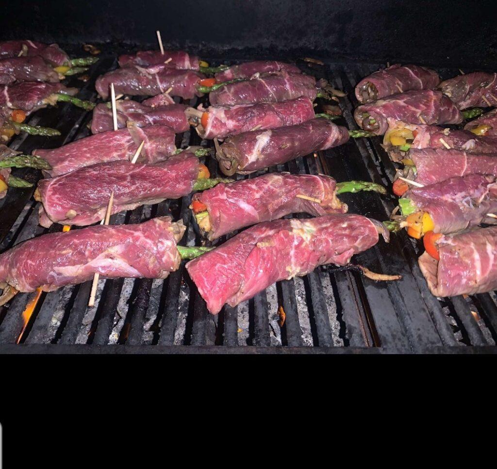 brazilian steak roll on grill