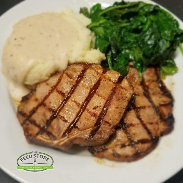 lunch pork chop grilled