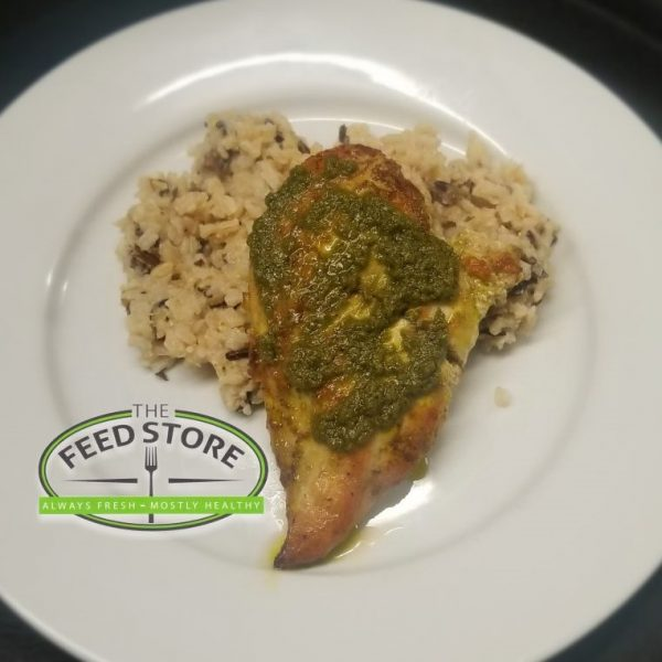 pesto chicken wild rice